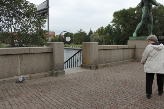 Scene: Hämeensilta Bridge, Tampere, Finland.